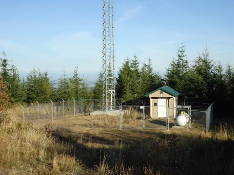 The KROH transmitter site, fenced, gated and barbed-wired. Now all we need are some new antennae!